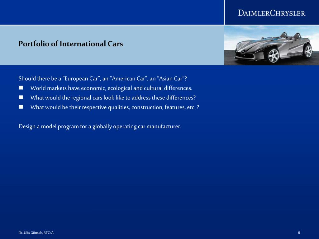 Portfolio of International Cars