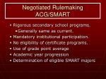negotiated rulemaking acg smart