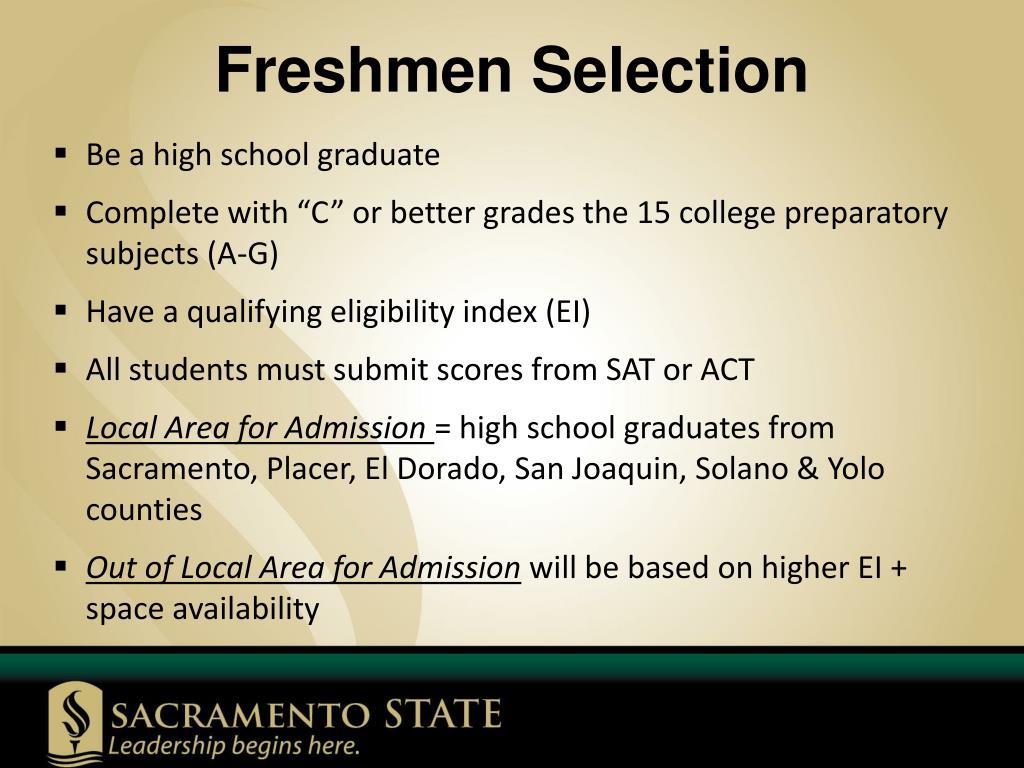 Freshmen Selection