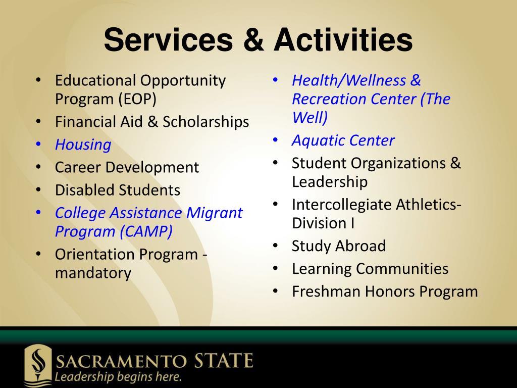 Services & Activities