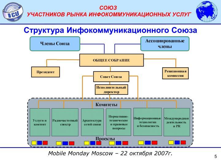 Структура Инфокоммуникационного Союза