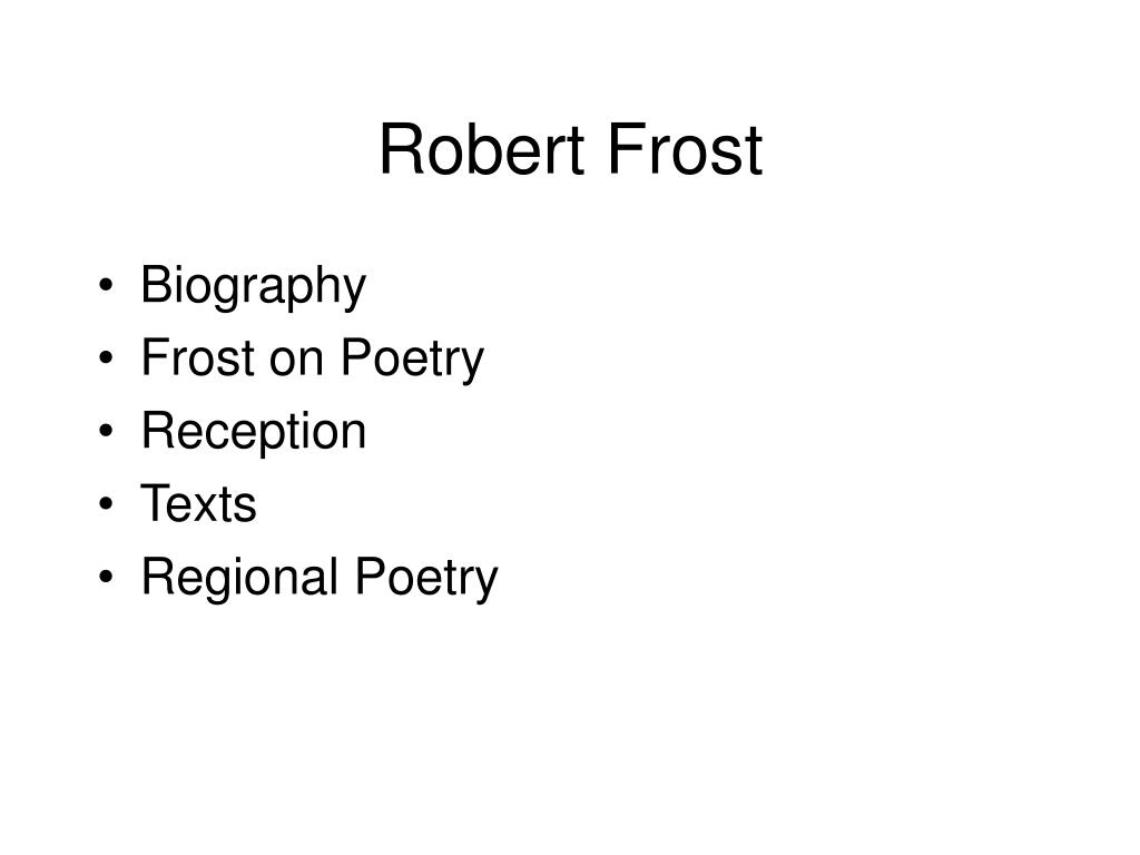 robert frost departmental analyis To a penetrating and illuminating analysis the themes of robert frost by robert penn vvarren afairly large body of criticism has been written on the poetry of robert.