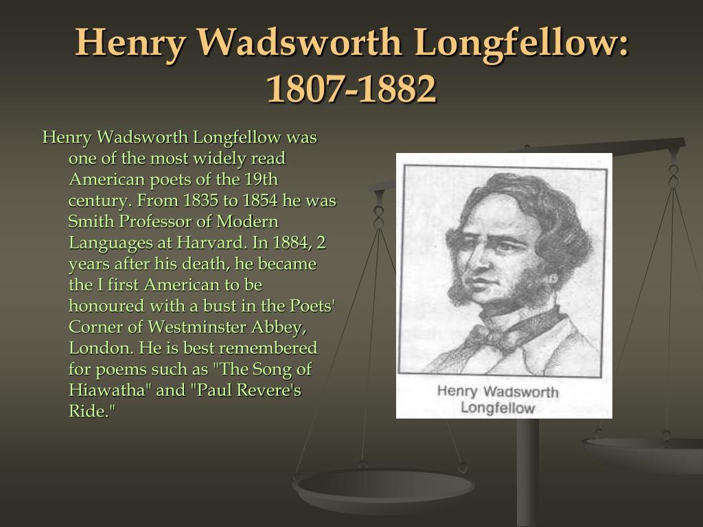 Henry Wadsworth Longfellow: 1807-1882