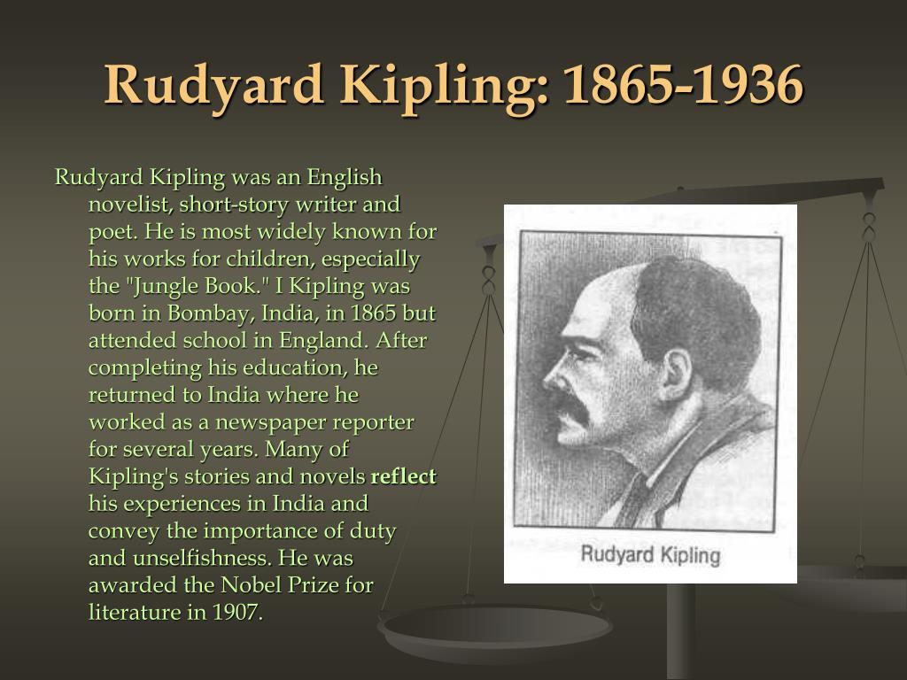 Rudyard Kipling: 1865-1936