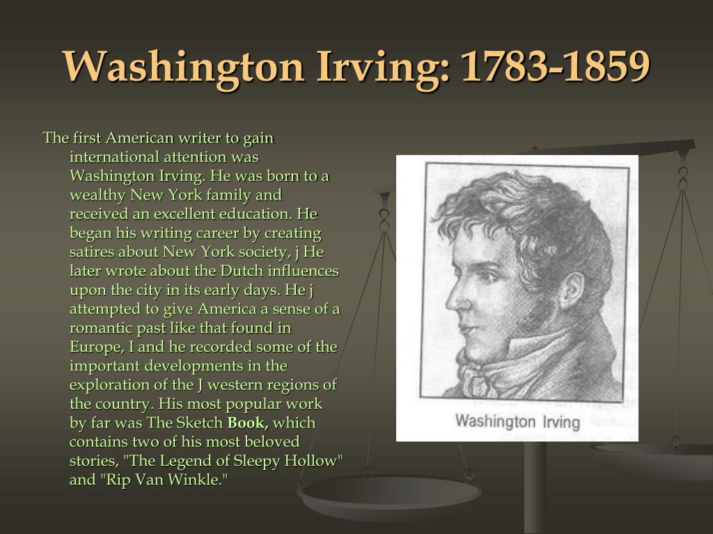 Washington Irving: 1783-1859