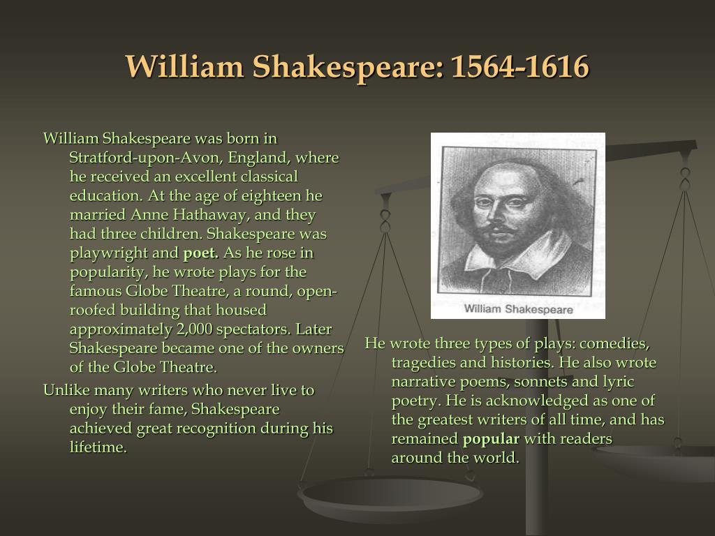 William Shakespeare: