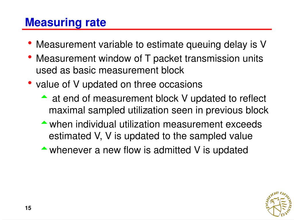Measuring rate