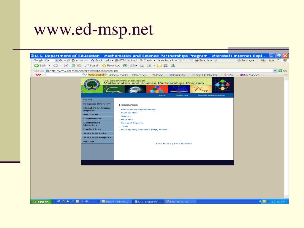 www.ed-msp.net