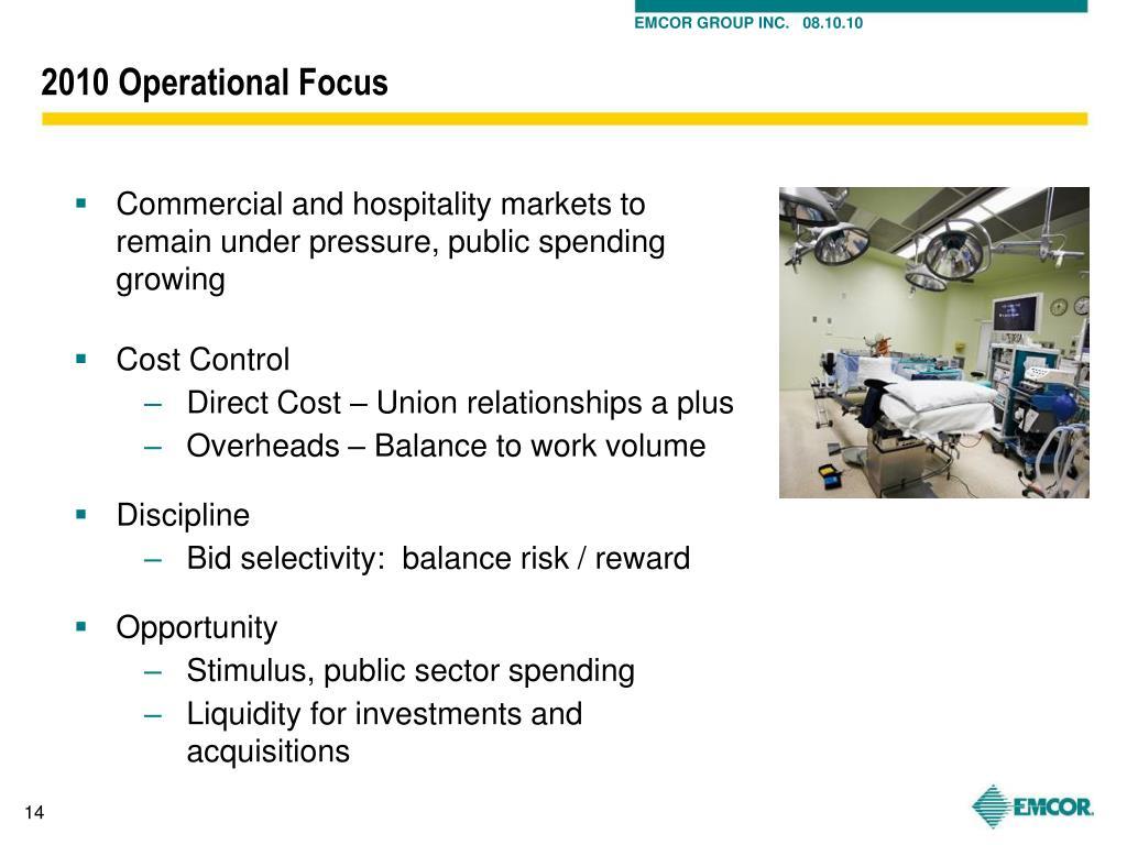 2010 Operational Focus