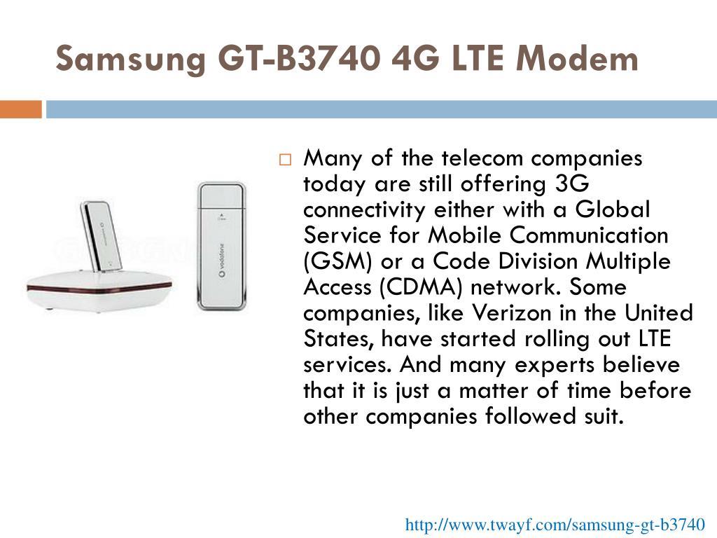 Samsung GT-B3740 4G LTE Modem