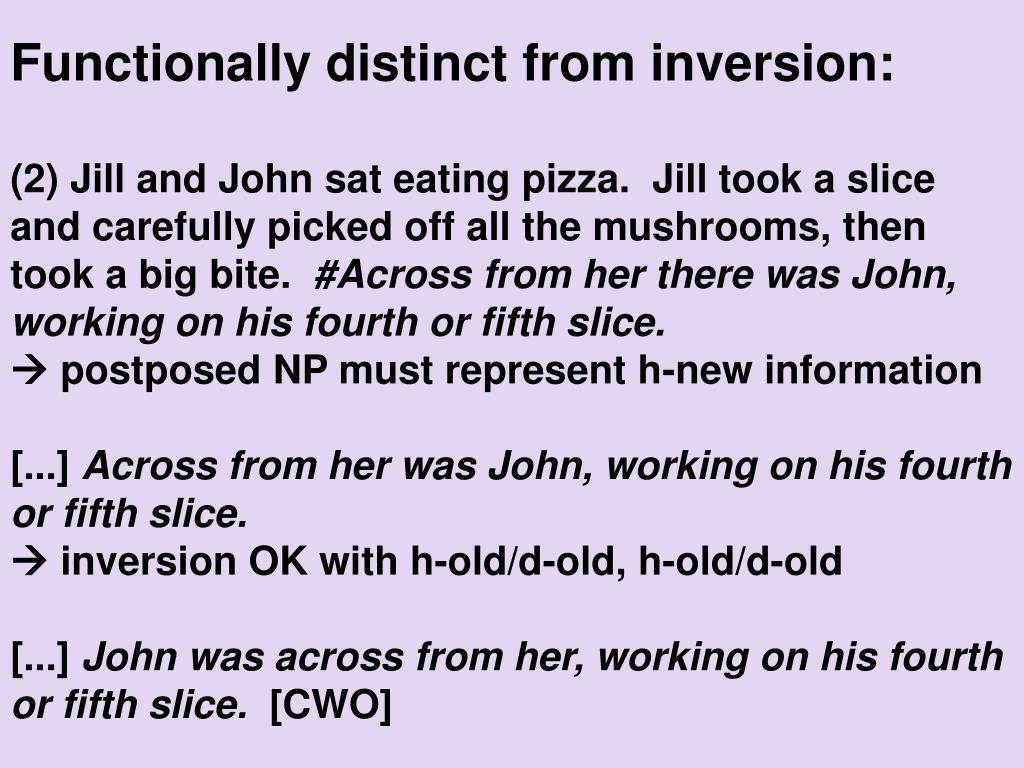 Functionally distinct from inversion: