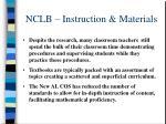 nclb instruction materials