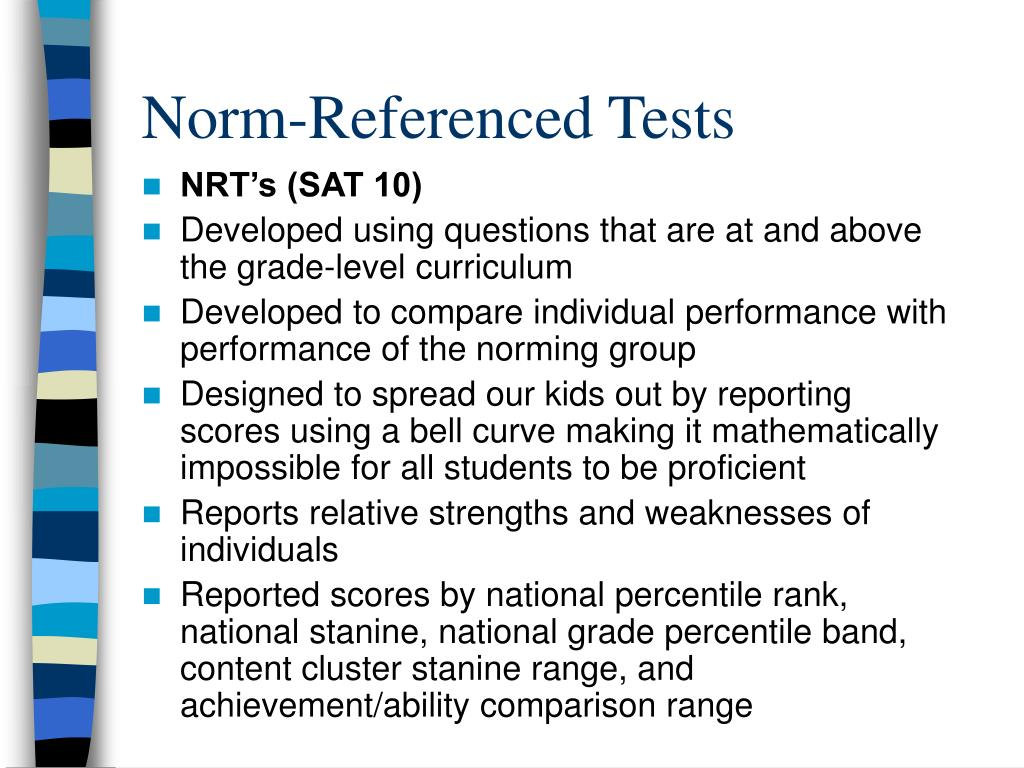 Norm-Referenced Tests