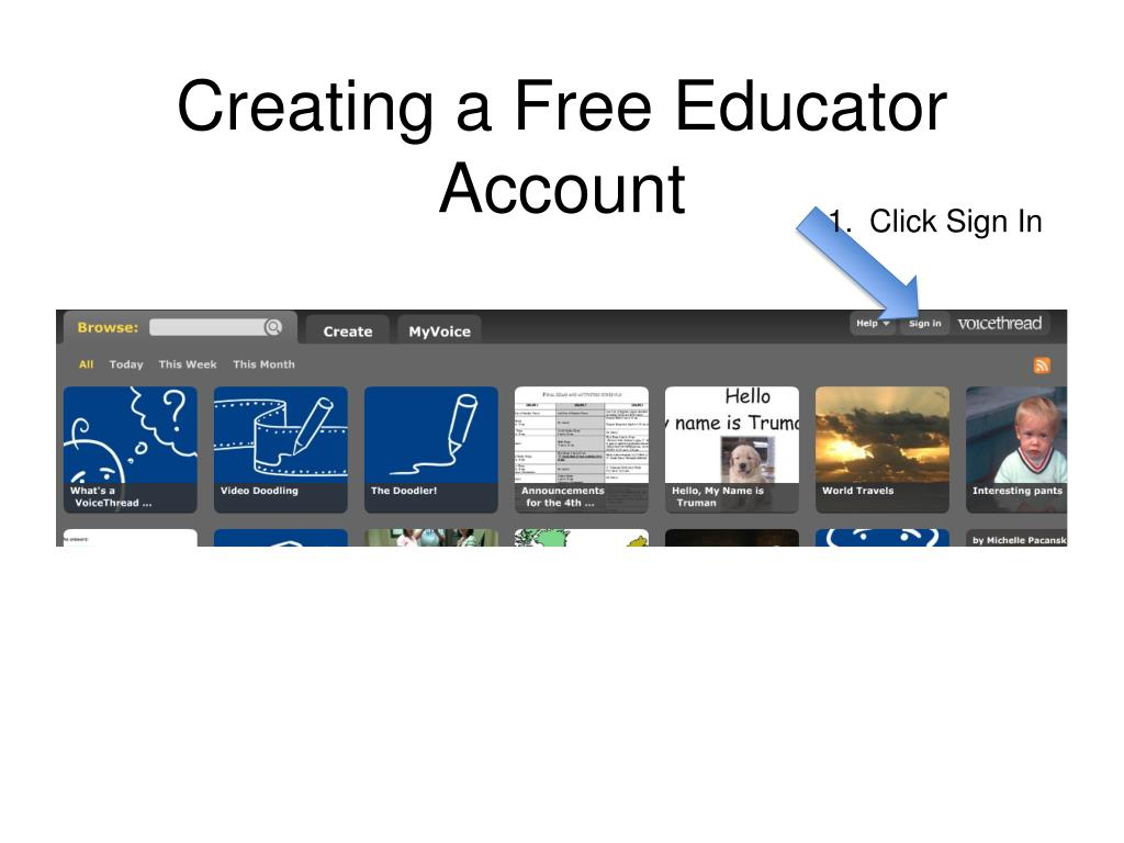 Creating a Free Educator Account