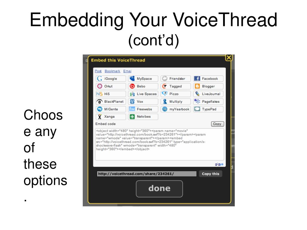 Embedding Your VoiceThread