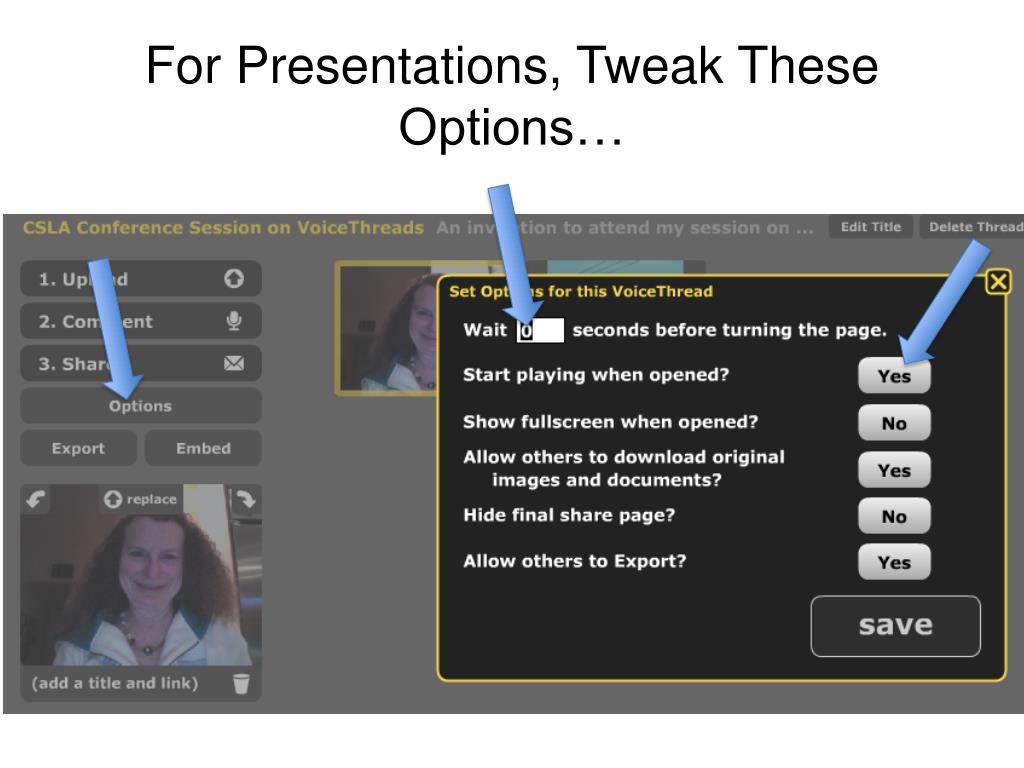 For Presentations, Tweak These Options…