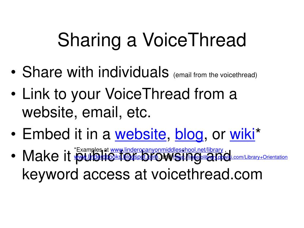 Sharing a VoiceThread