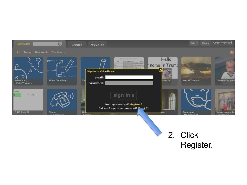 Click Register.