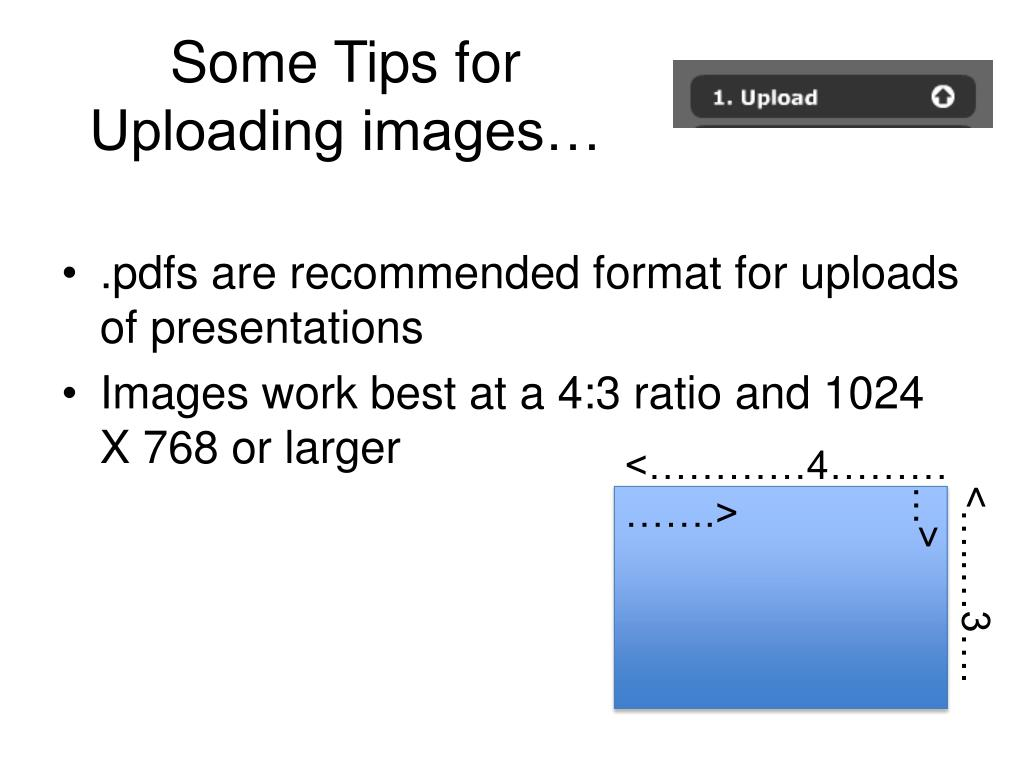 Some Tips for Uploading images…