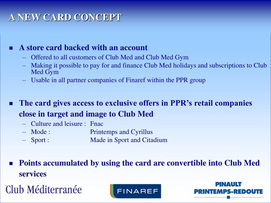 A NEW CARD CONCEPT