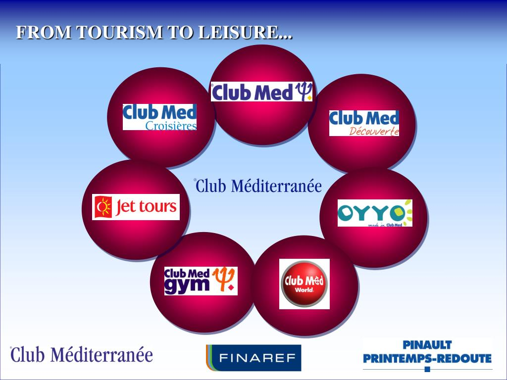 FROM TOURISM TO LEISURE...