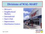 divisions of wal mart