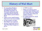 history of wal mart