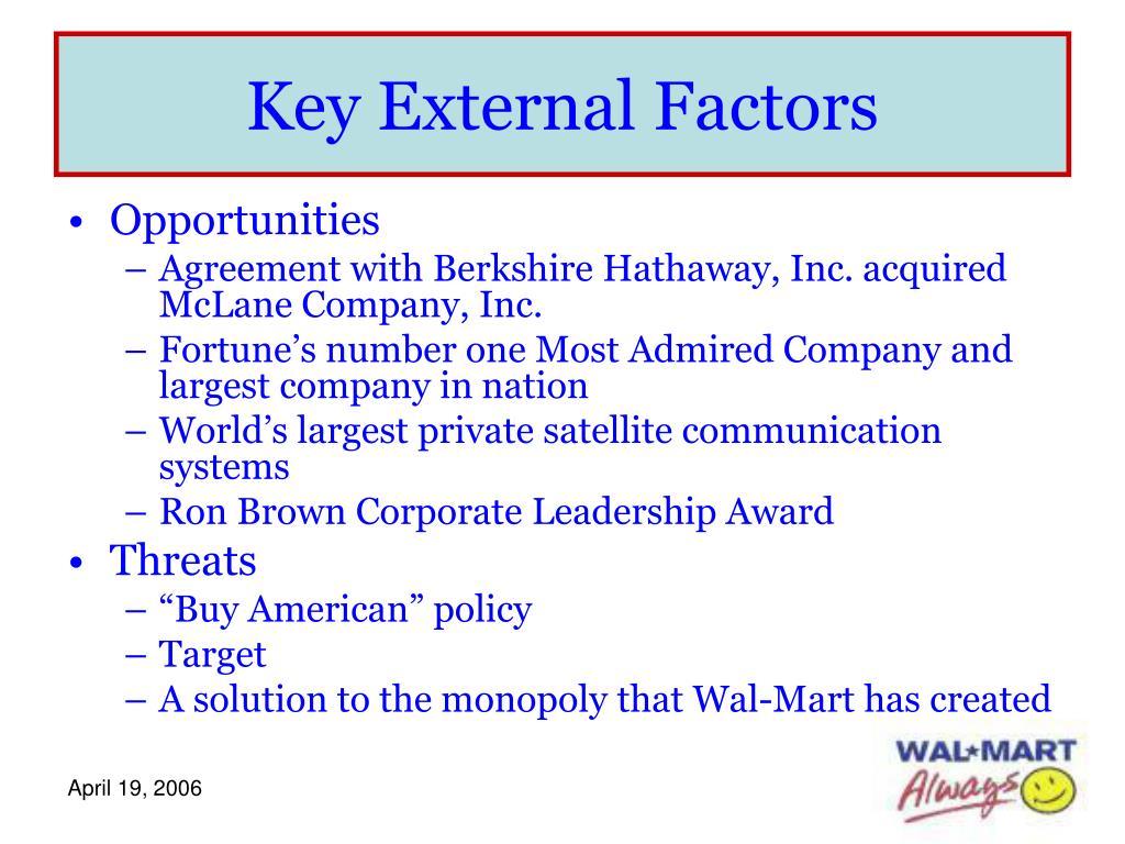 Key External Factors