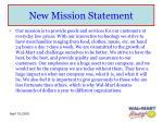 new mission statement