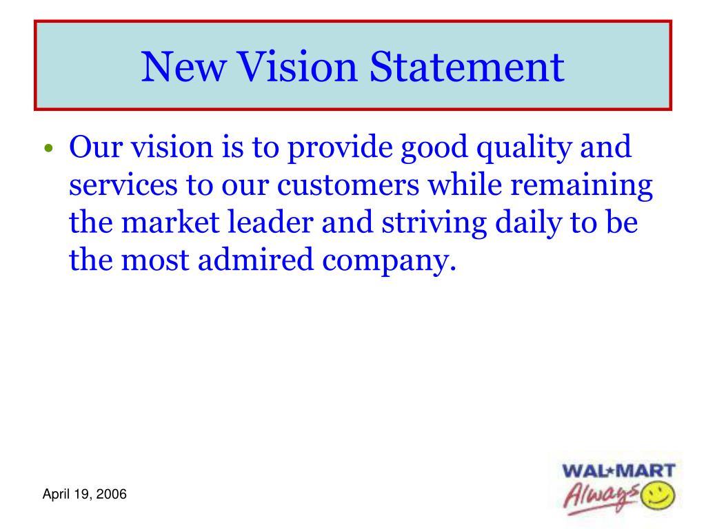 New Vision Statement