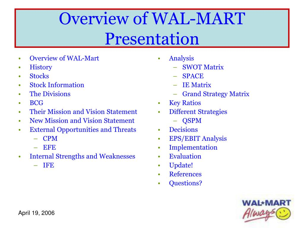Overview of WAL-