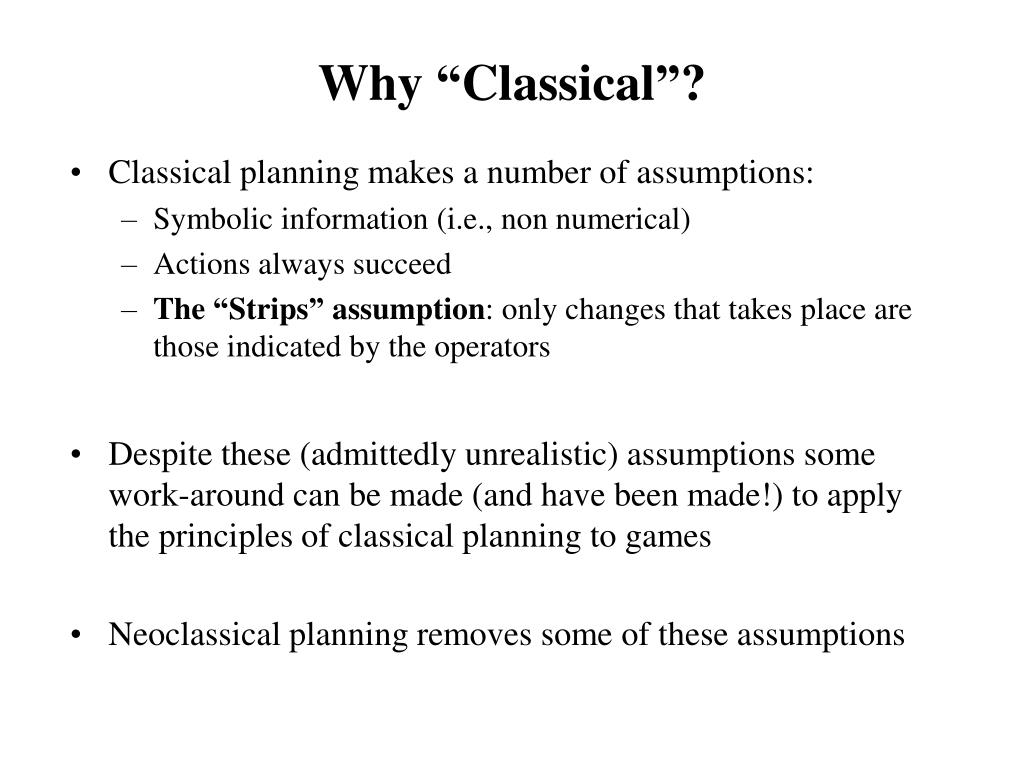 """Why """"Classical""""?"""