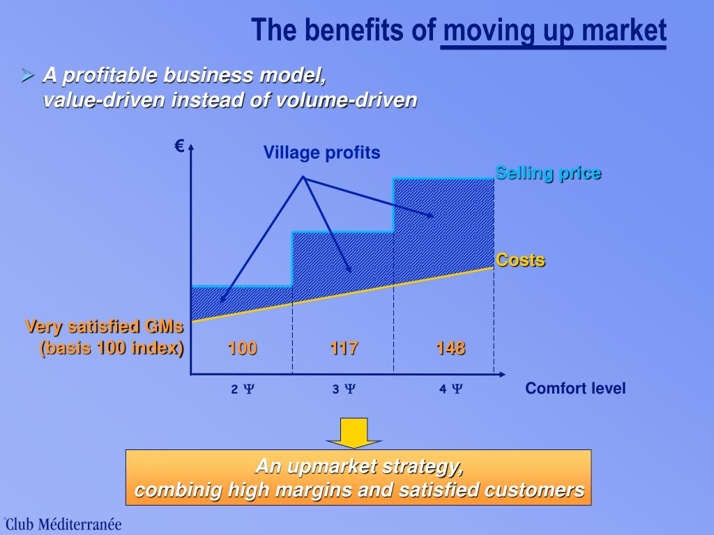 The benefits of moving up market