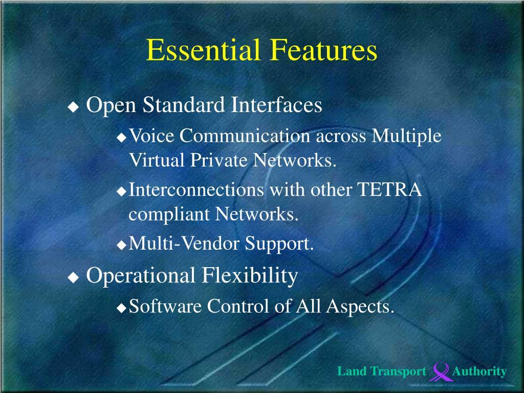 Open Standard Interfaces