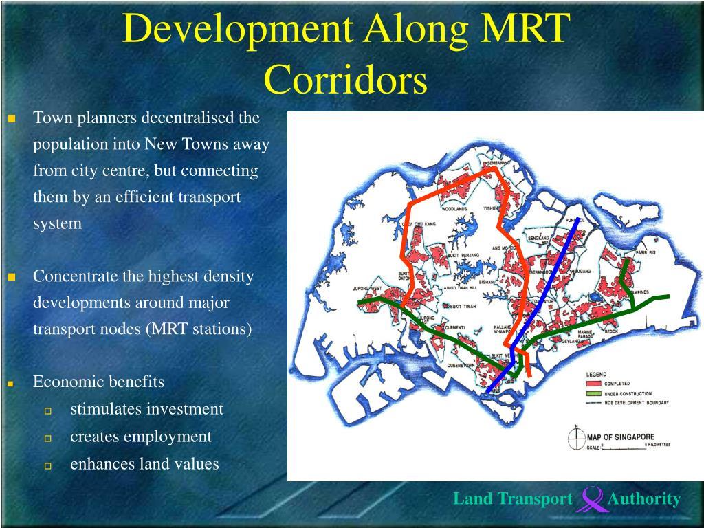 Development Along MRT Corridors