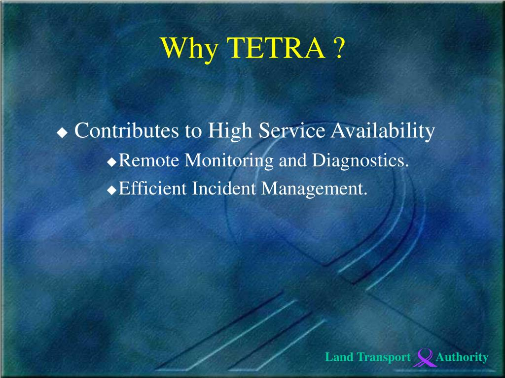 Contributes to High Service Availability