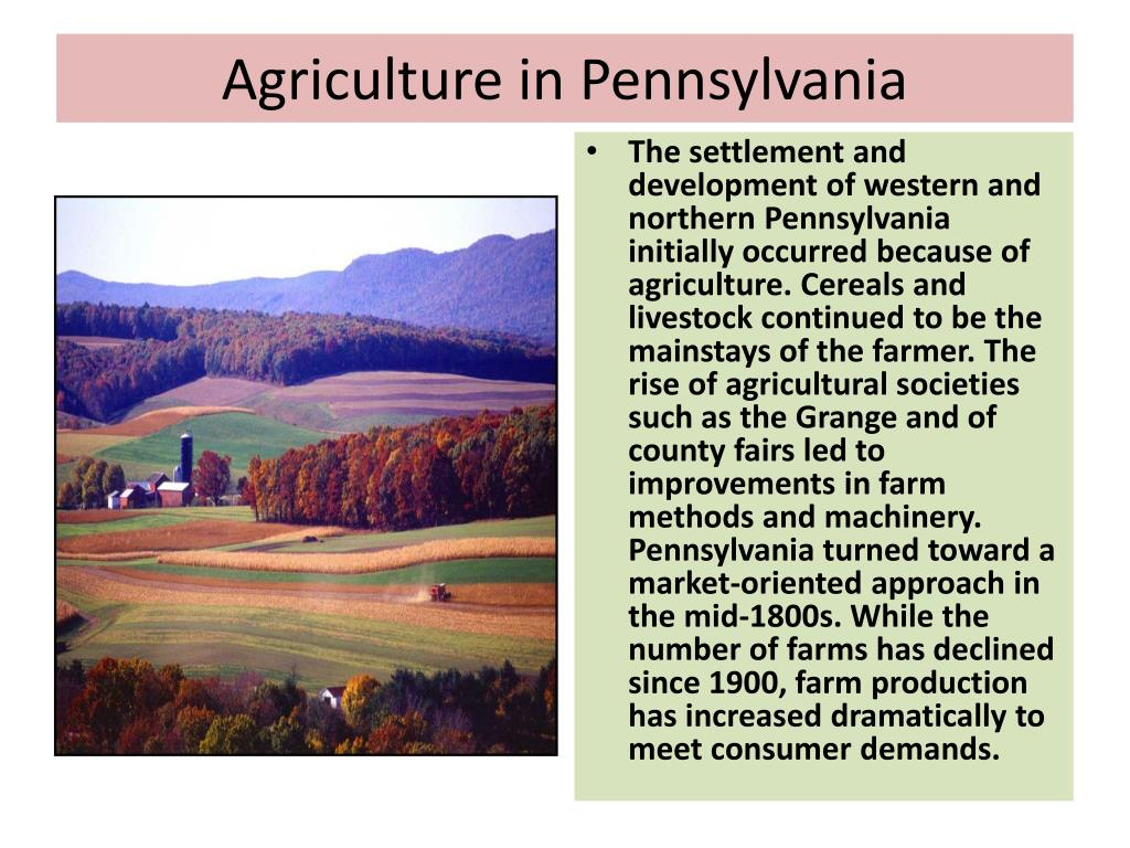 Agriculture in Pennsylvania