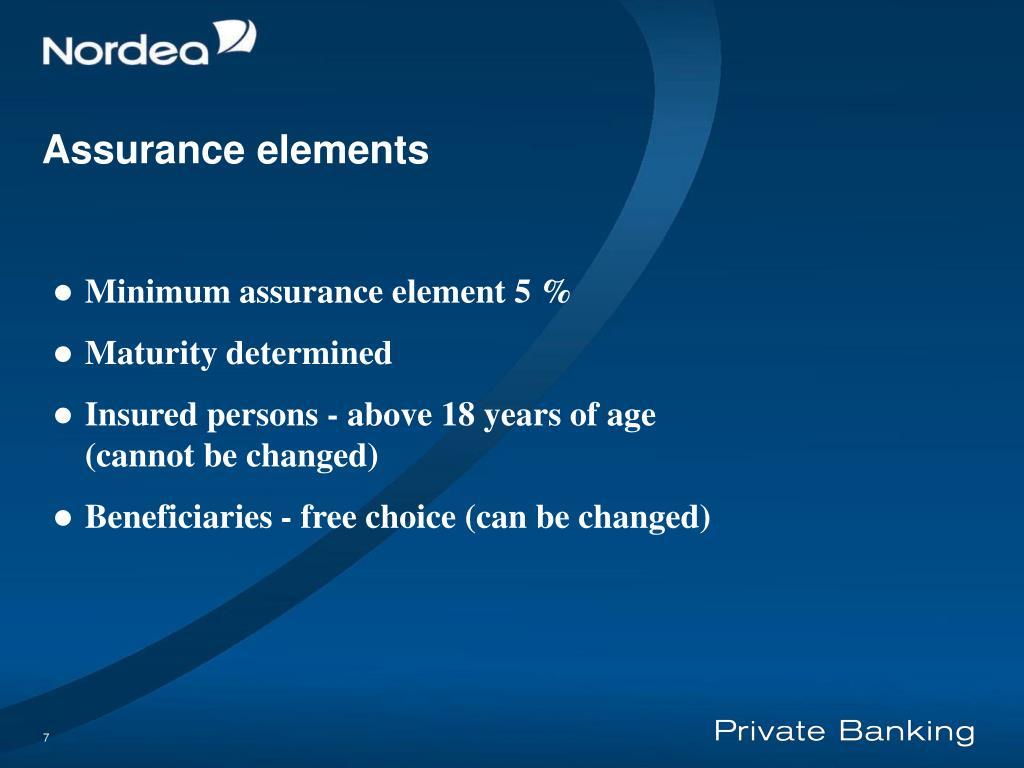 Assurance element