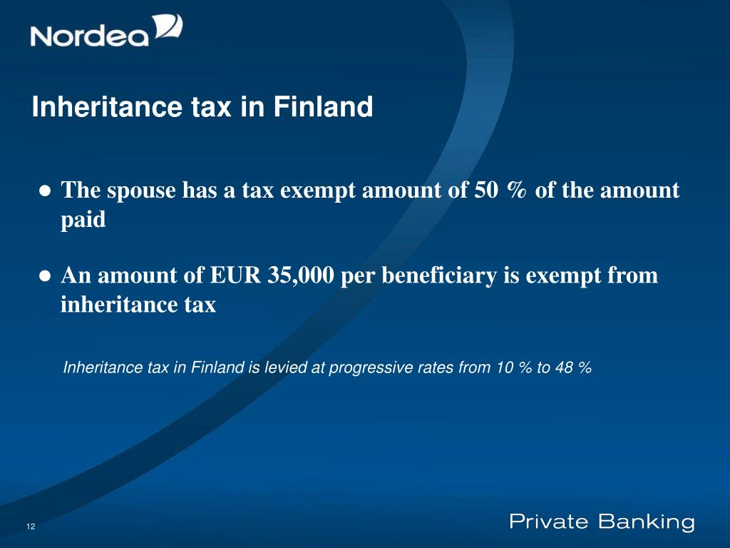 Inheritance tax in Finland