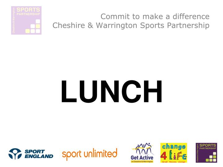 Commit to make a difference cheshire warrington sports partnership