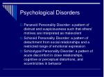 psychological disorders14