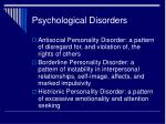psychological disorders15