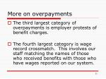 more on overpayments