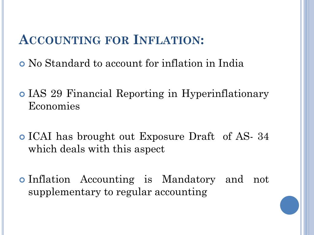 Accounting for Inflation: