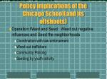 policy implications of the chicago school and its offshoots19