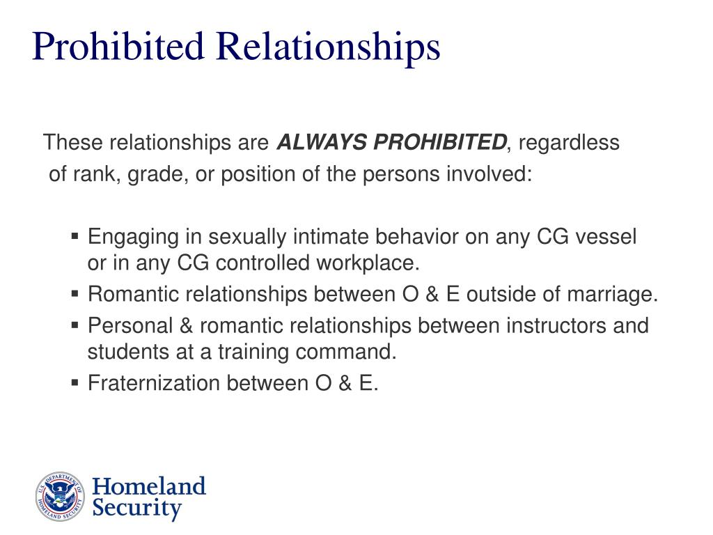 Prohibited Relationships