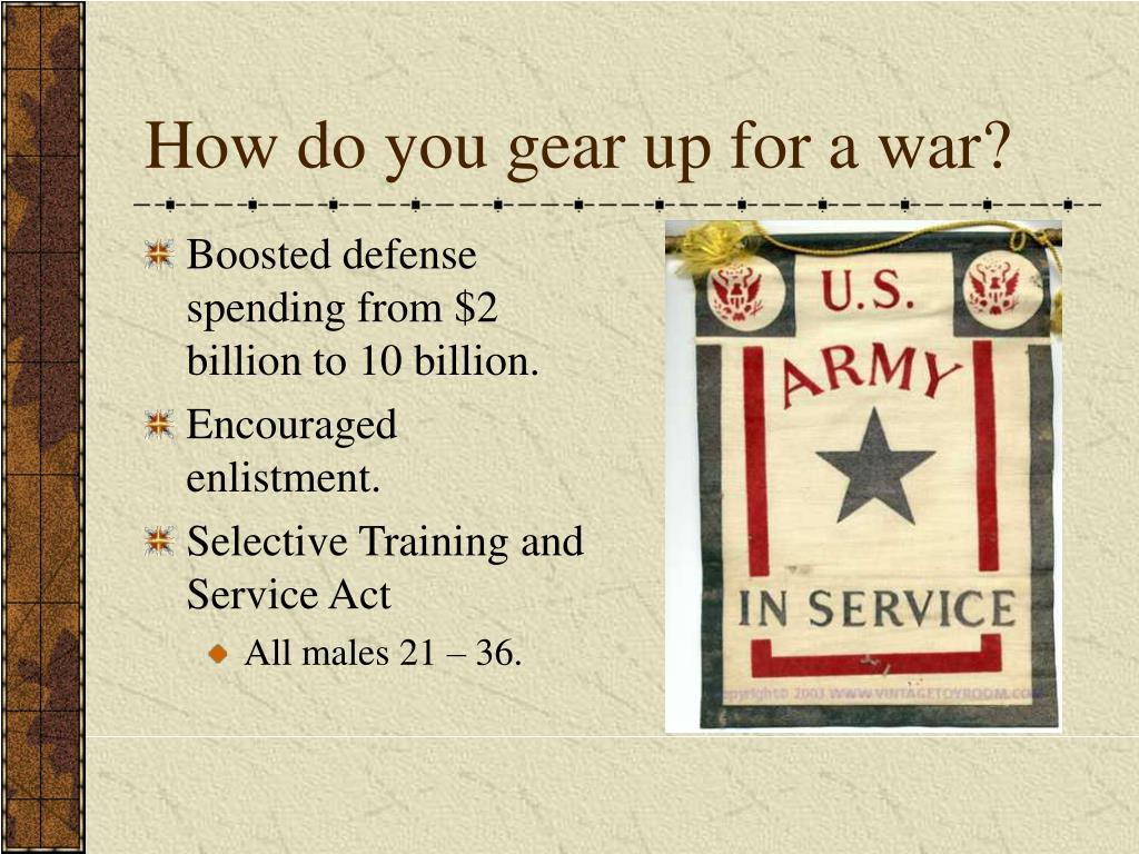 How do you gear up for a war?