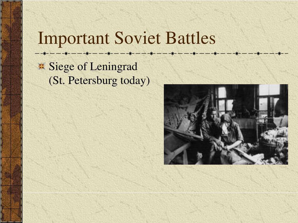 Important Soviet Battles