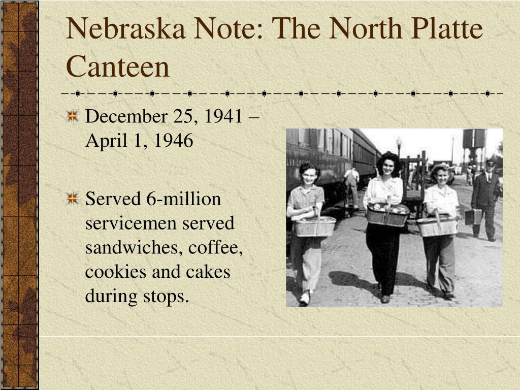 Nebraska Note: The North Platte Canteen