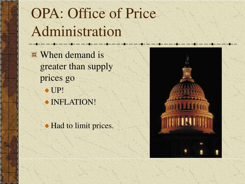 OPA: Office of Price Administration